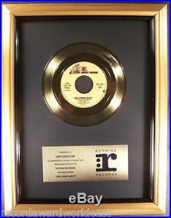 John Sebastian Welcome Back Kotter 45 Gold Non RIAA Record Award Reprise