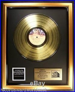 John Williams Star Wars Soundtrack LP Gold Non RIAA Record Award 20th Century