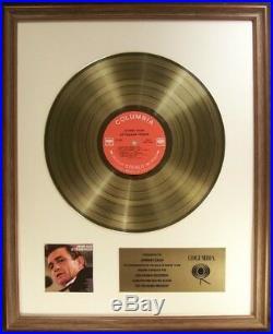 Johnny Cash At Folsom Prison LP Gold Non RIAA Record Award Columbia Records