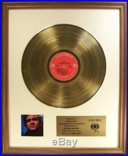 Johnny Cash Hello I'm Johhny Cash LP Gold Non RIAA Record Award Columbia