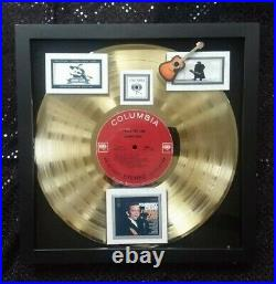 Johnny Cash I WALK THE LINE Gold Record Award WithMemorial Photo