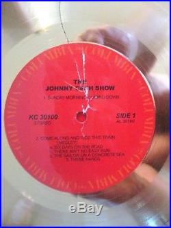 Johnny Cash RIAA Gold Record Award for LP THE JOHNNY CASH SHOW with Miller COA