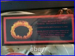Johnny Cash RING OF FIRE Gold Record Award (1963) The Best of Johnny Cash