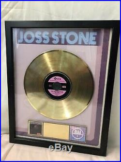 Joss Stone The Soul Sessions Gold Record Award Lp