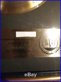 Journey riaa infinity gold record award rare