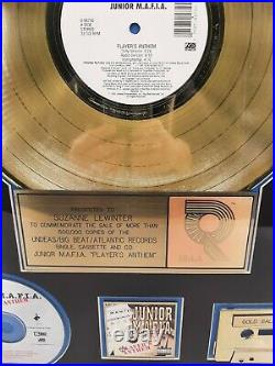 Junior MAFIA Authentic RIAA Players Anthem Gold Record Sales Award 1995 Biggie