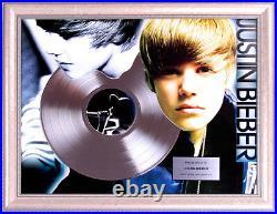 Justin Bieber Platinum Gold Record Artist Of The Year Award AFTAL