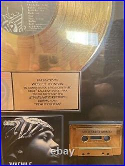 Juvenile Gold RIAA Record Award for Reality Check presented to Def Jam Exec