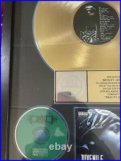 Juvenile Reality Check Gold Record RIAA Award to (Wes Party Johnson)