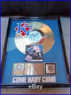 K 7. Come Baby Come. Rare. Custom. Riaa Gold Record Award. 1993 Tommy Boy