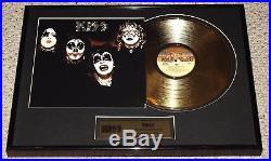 KISS 1974 1st Album Gold Record Award Plaque OFFICIAL 2006 Gene Ace Aucoin LP