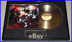 KISS Alive Gold Record Award Plaque OFFICIAL 2006 Gene Simmons Ace Aucoin LP