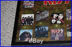 KISS Band 1974 to 1996 Mini Gold Album LP Record Award Poster Display OFFICIAL