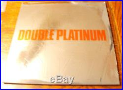 KISS Double Platinum PROMO LP Labels/Gold Stamp Award Insert NM Sterling