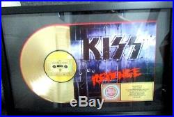KISS GENUINE CUSTOM AWARD REVENGE RIAA GOLD RECORD AWARD To Eric Carr