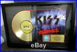 KISS, GENUINE RIAA, GOLD RECORD AWARD REVENGE TO KISS, Eric Carr, Gene Simmons