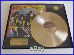 KISS Hotter Than Hell 24 Karat Gold Clad Record Display Award. Kiss records