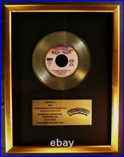 KISS I Was Made For Lovin' You 45 Gold Non RIAA Record Award Casablanca Records