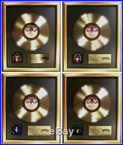 KISS Lot 4 Solo Ace Peter Paul Gene LP Gold Non RIAA Record Award Casablanca