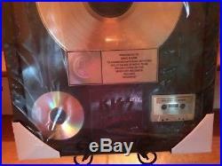 KISS, REVENGE Genuine, RIAA GOLD RECORD AWARD. PRESENTED TO KISS ERIC CARR