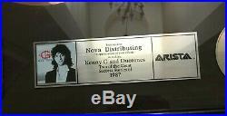 Kenny G Duotones Arista Gold & Platinum Record Sales Award Framed Display 25x22
