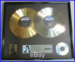 Kenny G Duotones Arista Label Gold / Platinum Record Sales Award