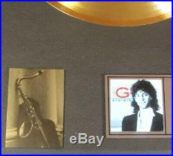 Kenny G Duotones Arista Label (in-house) Gold / Platinum Award Issued 1987