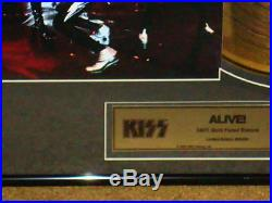 Kiss Alive Gold Record Award Limited Edition