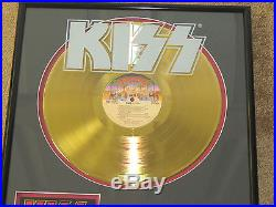 Kiss Alive II 24kt Gold Record Award With Coa