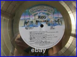 Kiss- Alive II Original 1978 Riaa Floater Gold Record Award! Real! Rare