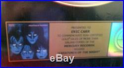 Kiss, Creatures Of The Night Vintage Style Riaa Gold Record Award, Eric Carr