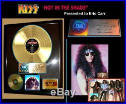 Kiss, Last Tour, Genuine Hits Riaa Gold Record Award To Kiss Eric Carr