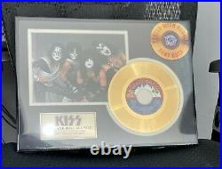 Kiss Official Rock And Roll All Night 24k Gold Record Award