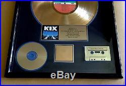 Kix Blow My Fuse Gold Record Sales Award RIAA Certified