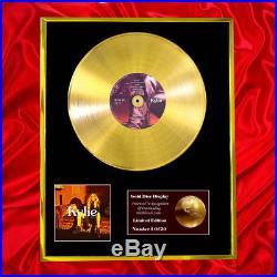 Kylie Minogue Golden CD Gold Disc Vinyl Record Lp Award Display