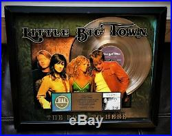 LITTLE BIG TOWN The Road To Here 2005 RIAA Certified Gold Record Award