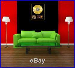 Lady Gaga & Bradley Cooper A Star Is Born CD Gold Disc Vinyl Record Award Lp
