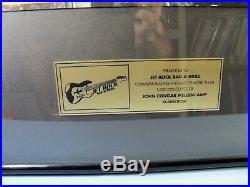 Large John Cougar Mellencamp SCARECROW Gold Non RIAA Framed Sales Award Record