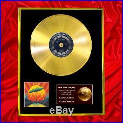 Led Zeppelin Celebration Day CD Gold Disc Vinyl Record Award Display Lp