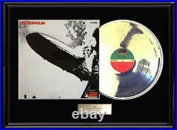Led Zeppelin Debut First Album White Gold Platinum Tone Record Non Riaa Award