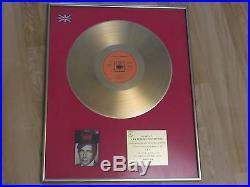 Leonard Cohen UK Gold Record Award Songs of Leonard Cohen Rare