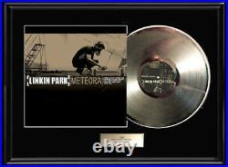 Linkin Park Rare Framed Lp White Gold Silver Platinum Tone Record Non Riaa Award