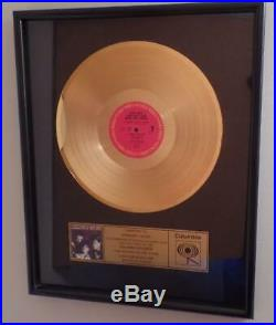 Lisa Lisa & Cult Jam With Full Force Gold Record Award Columbia Records