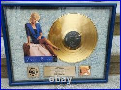 Lorrie Morgan Gold Record Award For Album Sales Original