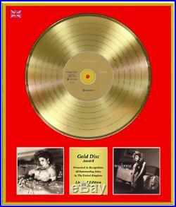 MADONNA Ltd Edition CD Gold Disc Record Award LIKE A VIRGIN