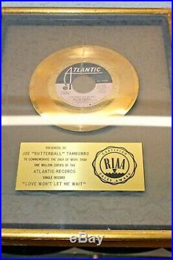 MAJOR HARRIS LOVE WON'T LET ME WAIT RIAA GOLD RECORD Award