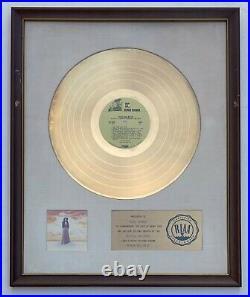 MARIA MULDAUR 1974 RIAA WHITE MATTE GOLD RECORD AWARD Midnight at the Oasis