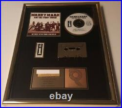 MARKY MARK & THE FUNKY BUNCH Original RIAA Gold Record Music Award Wahlberg RARE