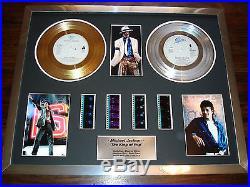 Michael Jackson Gold Platinum Disc Award Record Film Cell Montage