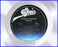 MICHAEL JACKSON THRILLER PLATINUM LP RECORD AWARD gold riaa format cd disc rare